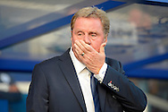 Queens Park Rangers manager Harry Redknapp before k/o. Barclays Premier league match, Queens Park Rangers v Leicester city at Loftus Road in London on Saturday 29th November 2014.<br /> pic by John Patrick Fletcher, Andrew Orchard sports photography.