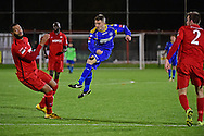 South Park midfielder Dale Burgess (12) during the Ryman League - Div One South match between Carshalton Athletic and South Park FC at War Memorial Sports Ground, Carshalton, United Kingdom on 19 November 2016. Photo by Jon Bromley.