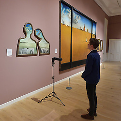Salvador Dali, Couple with their Heads in the Clouds, Landscape with a Girl Skipping Rope, Scottish National Gallery of Modern Art  (Modern One) Surreal Encounters Collection, Edinburgh, 2nd June 2016, <br /> (c) Brian Anderson | Edinburgh Elite media