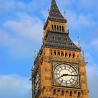 United Kingdom, Great Britain; England; London. Famous Big Ben clocktower, a London landmark.
