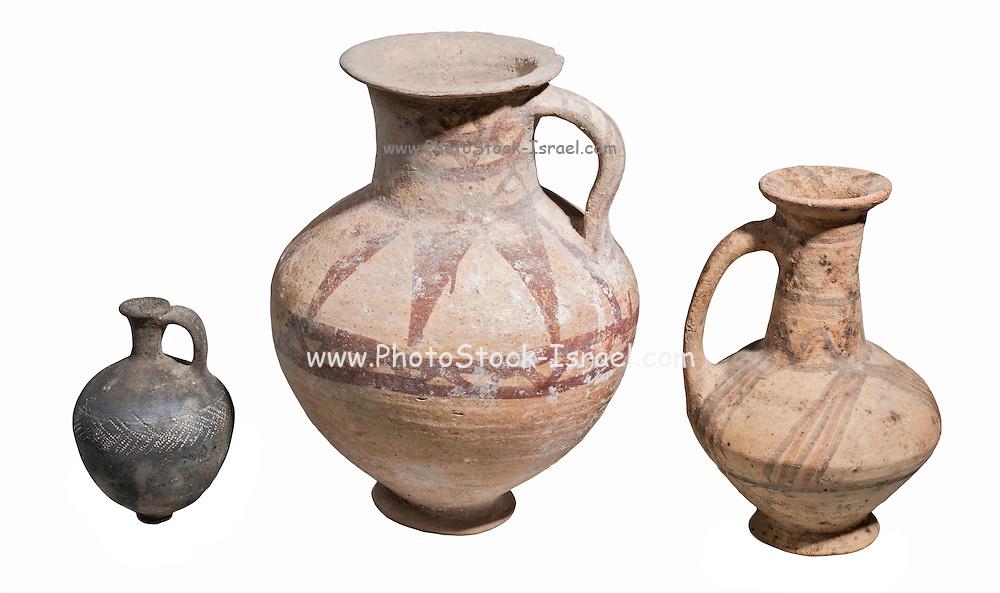 3 middle bronze age terra-cotta juglets 1600 BC