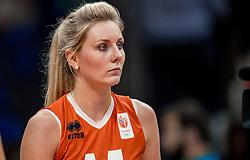 18-08-2016 BRA: Olympic Games day 13, Rio de Janeiro<br /> De Nederlandse volleybalsters hebben niet kunnen stunten met een plaats in de finale van het olympisch toernooi. China, dat in de groepsfase nog met 3-2 geklopt werd, won na een thriller van ruim twee uur: 3-1 (27-25, 23-25, 29-27, 25-23). / Laura Dijkema #14