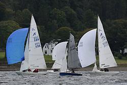 Marine Blast Regatta 2013 - Holy Loch SC<br /> <br /> One Desigs downwind including,  3546  La Belle Electra, Brian Kelly, 1004, Merlin Rocket <br /> <br /> Credit: Marc Turner / PFM Pictures