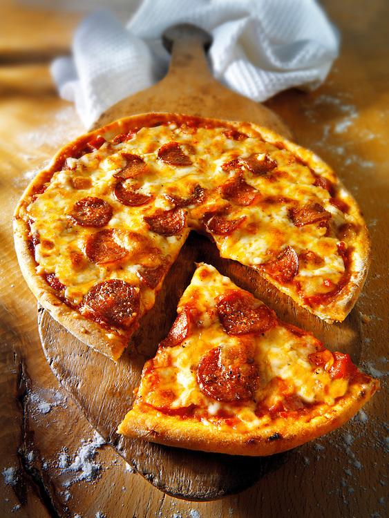 Italian pepperoni Pizza photos. FFunky Stock pizzas photos