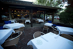 The outdoor dining area at Dana's restaurant, in The Livery shopping center in Danville, Calif., Monday, Aug. 17, 2015. (Photo by D. Ross Cameron)