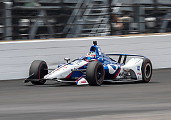 May 20, 2018 - Indianapolis, IN, U.S. - INDIANAPOLIS, IN - MAY 20: Graham Rahal, driver of the #15 United Rentals Honda, on the track for practice session during Pole Day for the Indianapolis 500, on May 20, 2018 at the Indianapolis Motor Speedway in Indianapolis, IN (Photo by Khris Hale/Icon Sportswire) (Credit Image: © Khris Hale/Icon SMI via ZUMA Press)