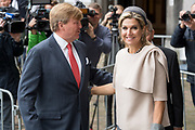 Koning Willem-Alexander en koningin Maxima tijdens de buitengewone vergadering van de Raad van State ter gelegenheid van het afscheid van vice-president Piet Hein Donner.<br /> <br /> King Willem-Alexander and Queen Maxima at the extraordinary meeting of the Council of State on the occasion of the farewell of Vice-President Piet Hein Donner.<br /> <br /> Op de foto / On the photo:  Koningin Maxima en Koning Willem Alexander / Queen Maxima and King Willem Alexander
