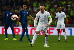 November 15, 2018 - London, United Kingdom - England's Wayne Rooney in Action.during the friendly soccer match between England and USA at the Wembley Stadium in London, England, on 15 November 2018. (Credit Image: © Action Foto Sport/NurPhoto via ZUMA Press)