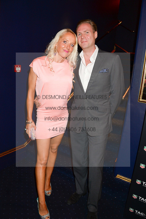 SEBASTIAN & CLARE VAN DAM at the launch of TAG Heuer's new Aquaracer in the presence of long term friend of the brand Bo Derek held at Tramp, Jermyn Street, London on 8th October 2013.