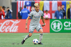 October 21, 2018 - Atlanta, GA, U.S. - ATLANTA, GA Ð OCTOBER 21:  Chicago's Diego Campos (17) moves the ball up the field during the match between Atlanta United and the Chicago Fire on October 21st, 2018 at Mercedes-Benz Stadium in Atlanta, GA.  Atlanta United FC defeated the Chicago Fire by a score of 2 to 1.  (Photo by Rich von Biberstein/Icon Sportswire) (Credit Image: © Rich Von Biberstein/Icon SMI via ZUMA Press)