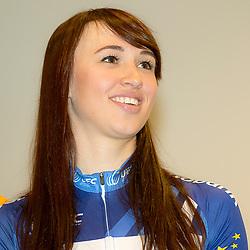 13-01-2016: Wielrennen: Presentatie Rabo wielerploegen: Papendal<br />PAPENDAL (NED) wielrennen<br />Het Rabobank-Liv vrouwenteam en het Developmentteam werden op Papendal voorgesteld. Katarzyna Niewiadoma