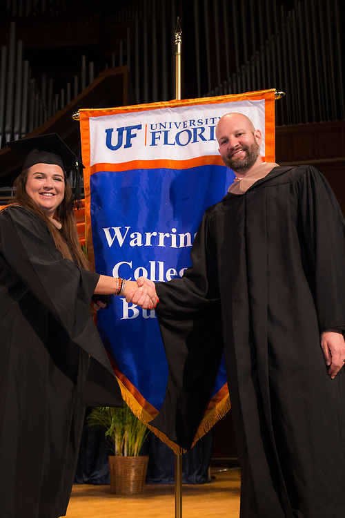 University of Florida Warrington College of Business Executive and Professionals MBA graduation ceremony at the University Auditorium in Gainesville, Florida.