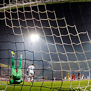 Kasimpasa SK's scores during their Turkish Superleague soccer match Kasimpasa SK between Galatasaray at the Recep Tayyip Erdogan stadium in Istanbul Turkey on Saturday 21 March 2015. Photo by Aykut AKICI/TURKPIX