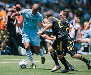 during the second half of an friendly soccer match, Sunday, July 24, 2011, in Carson, Calif. (AP Photo/Bret Hartman)
