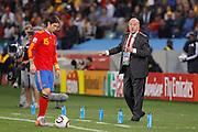 ©Jonathan Moscrop - LaPresse<br /> 07 07 2010 Durban ( Sud Africa )<br /> Sport Calcio<br /> Germania vs Spagna - Mondiali di calcio Sud Africa 2010 Semi finale - Durban Stadium<br /> Nella foto: l'allenatore della Spagna Vicente Del Bosque e Sergio Ramos<br /> <br /> ©Jonathan Moscrop - LaPresse<br /> 07 07 2010 Durban ( South Africa )<br /> Sport Soccer<br /> Germany versus Spain - FIFA 2010 World Cup South Africa Semi final - Durban Stadium<br /> In the Photo: Spain's coach Vicente Del Bosque and Sergio Ramos