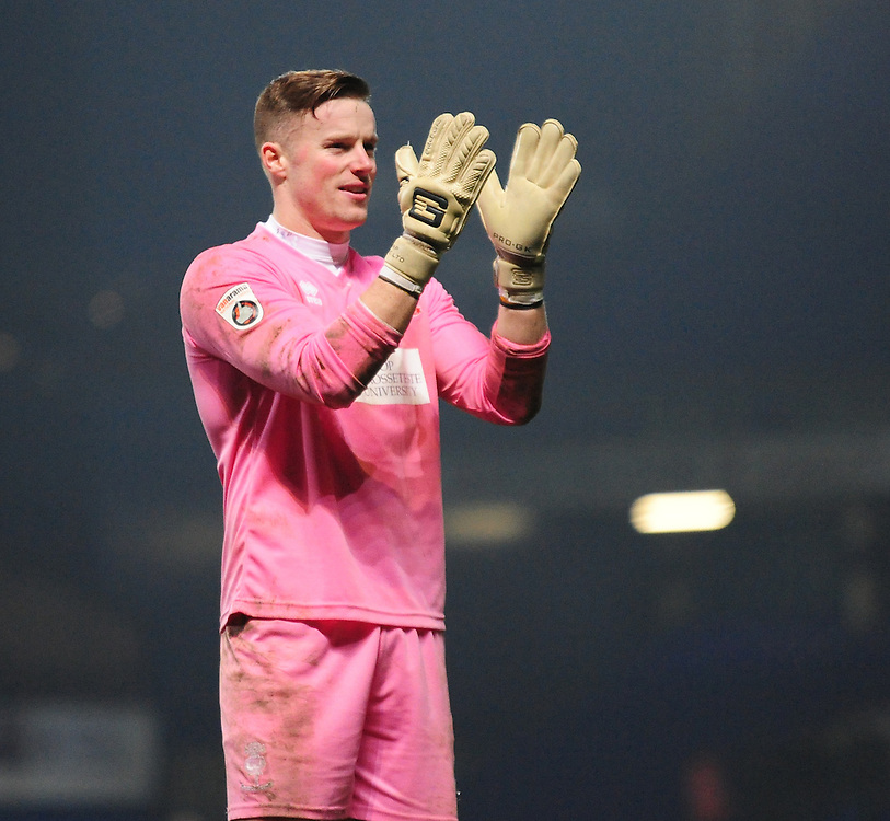 Lincoln City's Paul Farman applauds fans at the end of the game<br /> <br /> Photographer Andrew Vaughan/CameraSport<br /> <br /> Emirates FA Cup Third Round - Ipswich Town v Lincoln City - Saturday 7th January 2017 - Portman Road - Ipswich<br />  <br /> World Copyright © 2017 CameraSport. All rights reserved. 43 Linden Ave. Countesthorpe. Leicester. England. LE8 5PG - Tel: +44 (0) 116 277 4147 - admin@camerasport.com - www.camerasport.com