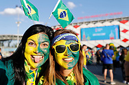 Fans of Brazil during the 2018 FIFA World Cup Russia, Group E football match between Erbia and Brazil on June 27, 2018 at Spartak Stadium in Moscow, Russia - Photo Tarso Sarraf / FramePhoto / ProSportsImages / DPPI