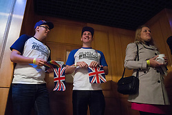 © Licensed to London News Pictures . 29/09/2017 . Torquay , UK . Supporters of leadership candidate John Rees-Evans at the conference . UKIP is due to announce the winner of a leadership election which has the potential to split the party . Photo credit: Joel Goodman/LNP