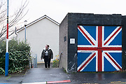 UDA stronghold. Their kerb-stones and lampposts painted red, white and blue like the Union Jack, this walled off loyalist protestant enclave 'The Fountain' is inside Derry's city walls. It is a staunch unionist area, fiercely pro-Britain. Their representatives, the Democratic Unionist Party, founded by Ian Paisley in 1971, are presently in parliament in collusion with the conservative party, looking for a hard Brexit with a border between Northern Ireland and the South. The ten DUP votes gives the conservative party its majority in government. This is nothing new. During the 'Troubles' three decades of bloodshed, with Catholic Irish Republican Nationalists seeking to unit Ireland, the pro-British Protestant loyalists wanted to remain part of the United Kingdom.