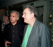 HANIF KUREISHI; STEPHEN FREARS, Party for Perfect Lives by Polly Sampson. The 20th Century Theatre. Westbourne Gro. London W11. 2 November 2010. -DO NOT ARCHIVE-© Copyright Photograph by Dafydd Jones. 248 Clapham Rd. London SW9 0PZ. Tel 0207 820 0771. www.dafjones.com.