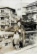 mother and child at Atami, Shizuoka prefecture Japan 1951