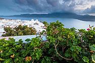 Town in Milos island whit white houses