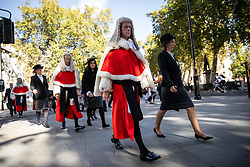 © Licensed to London News Pictures. 01/10/2018. London, UK. Justices of the Supreme Court, Judges and members of the legal profession attend The Judges Service in Westminster Abbey, to mark the start of the legal year. The service dates back to the Middle Ages. Photo credit : Tom Nicholson/LNP