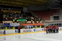 Team HK Acroni Jesenice Mladi champions in category U-17 during ice-hockey match between HK Acroni Jesenice and HDD Tilia Olimpija in fourth game of Final at Slovenian National League, on April 2, 2012 at Dvorana Podmezaklja, Jesenice, Slovenia. (Photo By Matic Klansek Velej / Sportida.com)