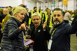 Pictured: Women's Equality Party's Lee Chalmers<br /> The count has started for the Edinburgh Count as part of the Scottish Election 2016. A long night is anticipated with results predicted to start being announced around 7 AM<br /> <br /> <br /> <br /> Ger Harley | EEm 5 May 2016