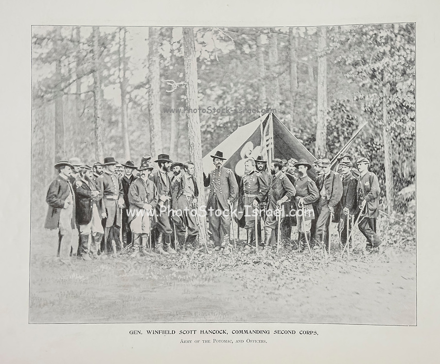 """General Winfield Scott Hancock, Commanding Second Corps from The American Civil War book and Grant album : """"art immortelles"""" : a portfolio of half-tone reproductions from rare and costly photographs designed to perpetuate the memory of General Ulysses S. Grant, depicting scenes and incidents in connection with the Civil War Published  in Boston and New York by W. H. Allen in 1894"""
