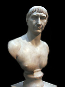 Marble bust of Trajan.  Roman, made in Italy about AD 108-117.  This bust, one of many issued to commemorate the emperor Trajan's Decennalia (tenth anniversary of his accession.)  Trajan was born at Italica near Seville in Modern Spain  and was the first non-Italian emperor, reflecting the political and economic shifts taking place within the Roman empire