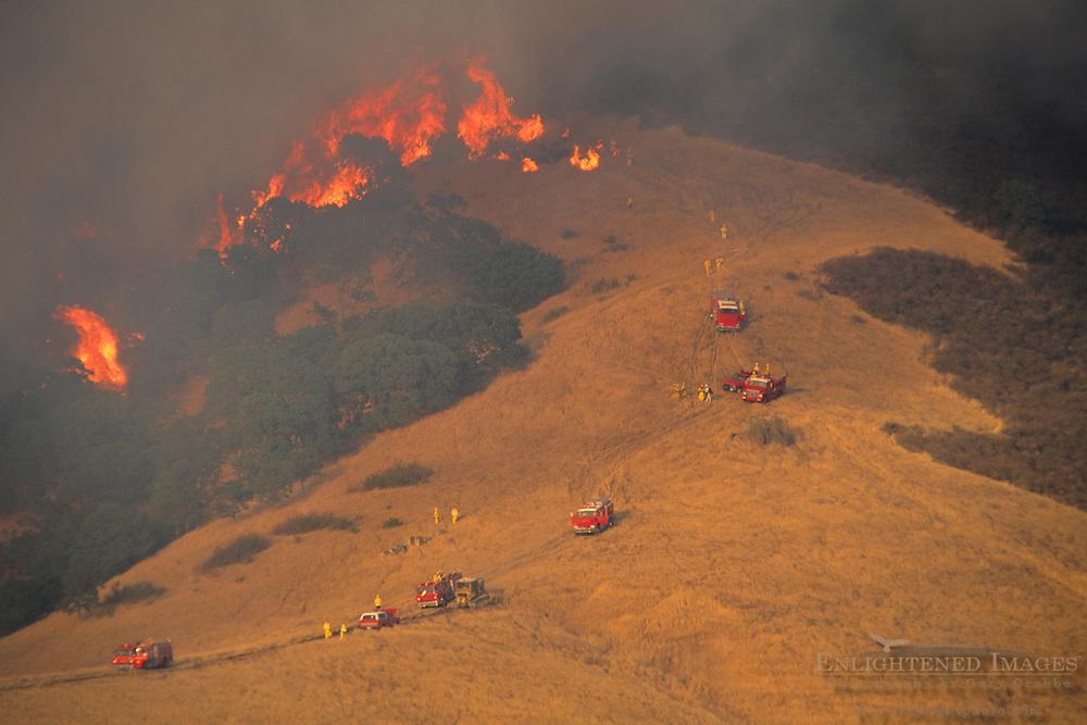 400 acre wildfire near Mt. Diablo, Contra Costa County, CALIFORNIA