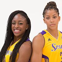 Los Angeles Sparks forward Nneka Ogwumike (30), Los Angeles Sparks forward/center Candace Parker (3)