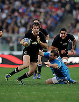 Rome, Italy -In the photo Men of the Match Conrad Smith in advanced during .Olympic stadium in Rome Rugby test match Cariparma.Italy vs New Zealand (All Blacks). (Credit Image: © Gilberto Carbonari).