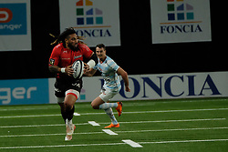 April 8, 2018 - Nanterre, Hauts de Seine, France - RC Toulon Wing MA A ALLAN NONU in action during the French rugby championship Top 14 match between Racing 92 and RC Toulon at U Arena Stadium in Nanterre - France..Racing 92 Won  17-13. (Credit Image: © Pierre Stevenin via ZUMA Wire)