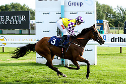 "Sacred Sprite ridden by Georgia Dobie trained by John Berry in the """"Hands and Heels"""" Apprentice Handicap - Mandatory by-line: Robbie Stephenson/JMP - 27/08/2019 - PR - Bath Racecourse - Bath, England - Race Meeting at Bath Racecourse"