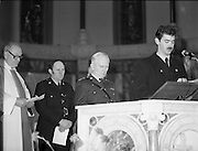 Garda Siochana Diamond Jubilee..1982.21.02,1982.02.21.1982.21st February 1982..Photograph of Garda Commissioner Patrick McLaughlin reading a lesson during the con-celebrated Mass. The Mass was celebrated in the Church of St, Paul of the Cross,Mount Argus,Dublin..