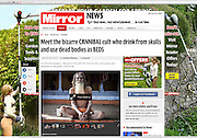 Mirror tear sheet on the Aghori -http://www.mirror.co.uk/news/world-news/pictured-aghori-cannibals-who-drink-3223085