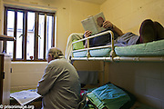 2 prisoners doubling up in a single cell. HMP & YOI Littlehey. Littlehey is a purpose build category C prison.