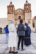 An early morning procession for peace at Santo Domingo church October 28, 2013 in Oaxaca, Mexico.