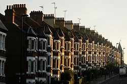 """File photo dated 11/12/13 of a row of terraced houses as the housing market took a pause in April as buyers and sellers adopted a """"wait and see"""" attitude over the General Election, according to estate agents."""