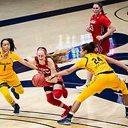 February 05, 2021 Berkeley, CA  U.S.A.  Utah Utes guard Dru Gylten (10) goes to the basket during the NCAA Women's Basketball game between Utah Utes and the California Golden Bears 62-51 win at Hass Pavilion Berkeley Calif.  Thurman James / CSM