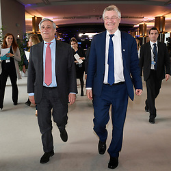 11 May 2017, Press conference with EP President Tajani and CoR President Markkula<br /> Belgium - Brussels - May 2017 <br /> © European Union / Fred Guerdin