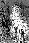 Arne Saknussemm from the book ' A journey to the centre of the earth ' by Jules Verne (1828-1905) Published in New York by Charles Scribner's Sons, 1905