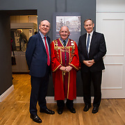 30.05. 2017.                                             <br /> Limerick Museum opened the doors to its new home at the former Franciscan Friary on Henry Street in the heart of Limerick city, dedicated to the memory of Jim Kemmy, the former Democratic Socialist Party and Labour Party TD for Limerick East and two-time Mayor of Limerick.<br /> <br /> Pictured at the opening of the Museum were, Damien Brady, LCCC, Mayor of Limerick Cllr. Kieran O'Hanlon and CEO Limerick City and County Council, Conn Murray.<br /> <br /> The museum will house one of the largest collections of any Irish museum. Picture: Alan Place