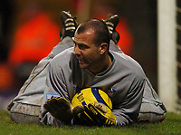 Photo: Javier Garcia/Back Page Images Mobile 07887 794393<br />03/01/2005 Crystal Palace v Aston Villa, FA Barclays Premiership, Selhurst Park<br />Gabor Kiraly had a relatively easy time in the Palace goal