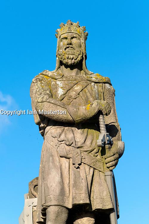 Statue of Robert the Bruce at Stirling Castle , Stirlingshire, Scotland, United Kingdom.