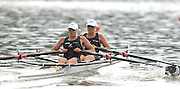 Amsterdam, HOLLAND, NZL W2X , bow Georgina Evers-SWINDELL and Caroline EVERS-SWINDELL,  move away from the start,  at the 2007 FISA World Cup Rd 2 at the Bosbaan Regatta Rowing Course. [Date] [Mandatory Credit: Peter Spurrier/Intersport-images]..... , Rowing Course: Bosbaan Rowing Course, Amsterdam, NETHERLANDS