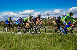 Riders near Bilje during 2nd Stage from Portoroz to Soca, 303km at Day 2 of DOS 2021 Charity event - Dobrodelno okrog Slovenije, on April 28, 2021, in Slovenia. Photo by Vid Ponikvar / Sportida