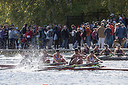 Cambridge. Mass, USA. General view.Youth Women's Four, race 2014 Head of the Charles Regatta. Charles River. Boston. 12:26:17  Sunday 19/10/2014  [Mandatory Credit; Peter Spurrier/Intersport-images] 2014. HOCR, 50 Years, anniversary